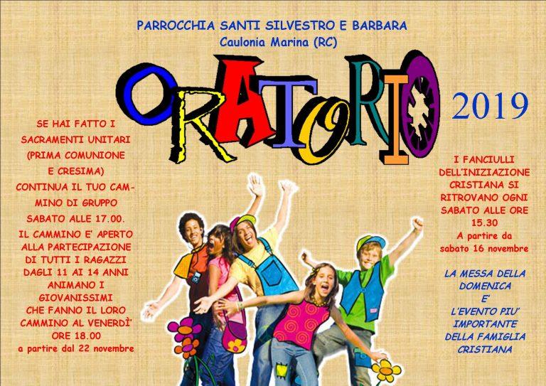 Oratorio 2019 – Caulonia Marina