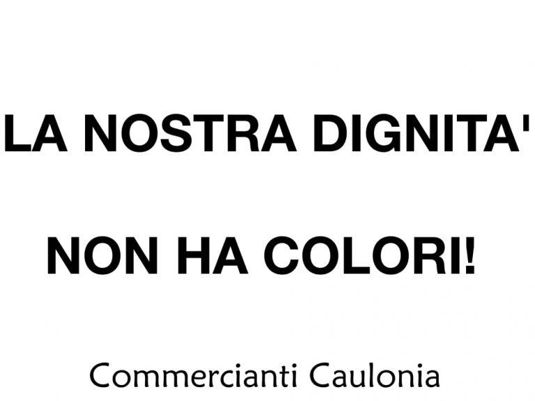 LA NOSTRA DIGNITA' NON HA COLORI! – 06 Novembre 2020