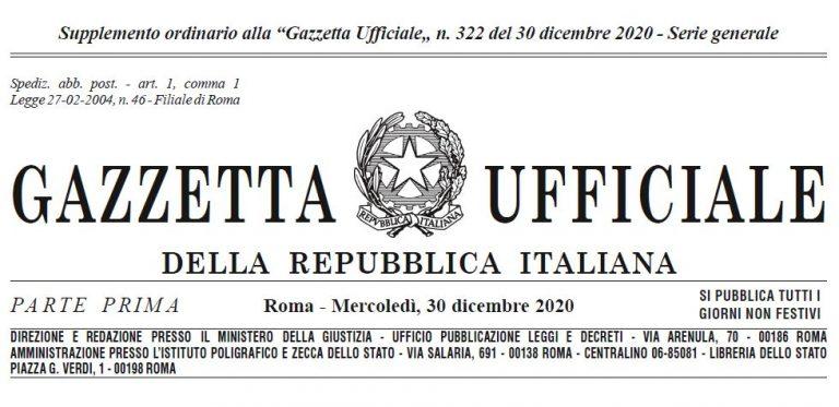 Legge di Bilancio 2021 in Gazzetta Ufficiale: scarica il PDF